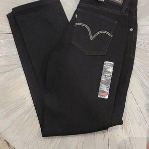 NWOT Levi's black mid rise petite skinny jeans